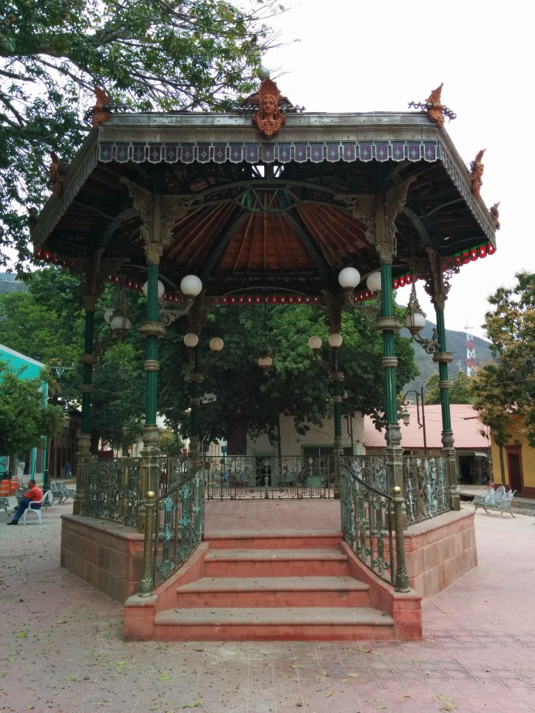 Gazebo in the town square.