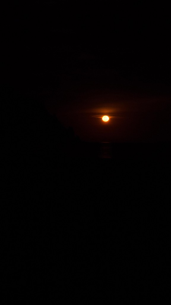 The bloodmoon god rises again from the ocean, thirsting for souls. Or something less ominous. The reds were incredible!
