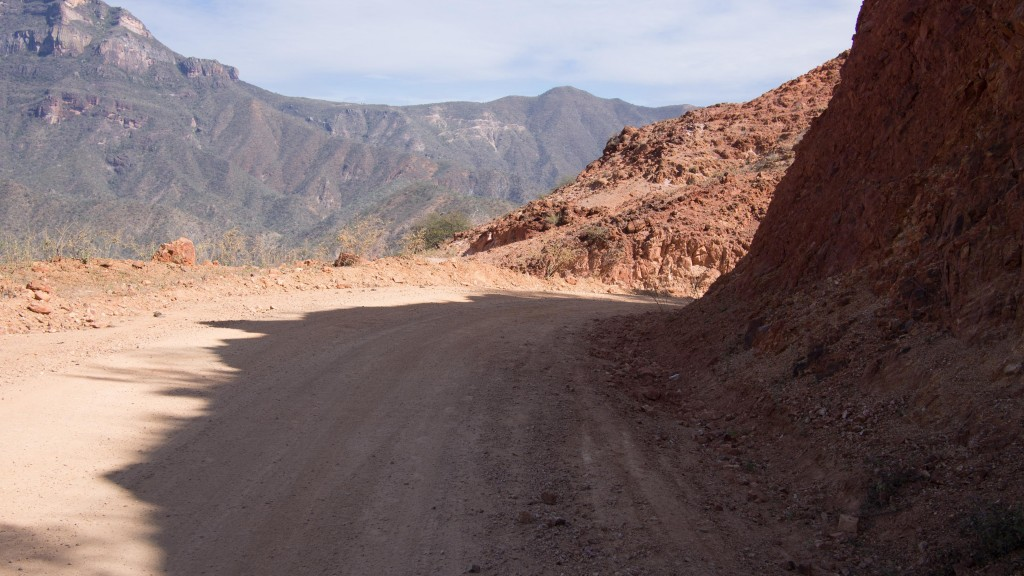 The copper road to Batopilas.  We probably would have been riding something like this had the initial bridge still be intact.