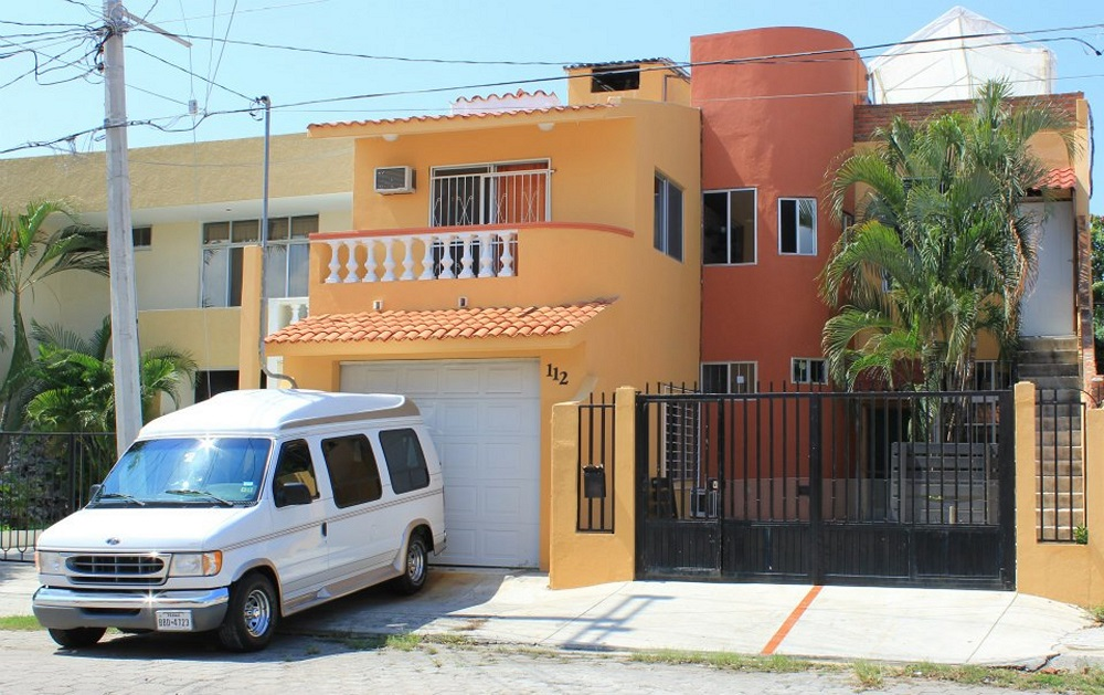 The Funky Monkey Hostel, an awesome hostel in one of the nicest neighorhoods in Mazatlán.  I borrowed this photo from their website.