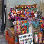 Local artisanal necklaces and earrings.