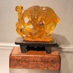 The only piece of amber I was able to photo before the Amber Museum guards told me no