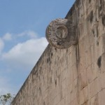 A hoop used by the Mayans; you'd hip check a ball through there.